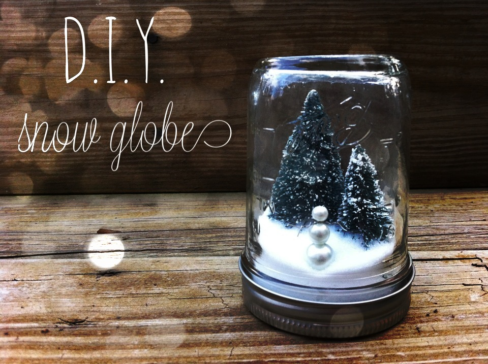 diy no 2 mason jar snow globes