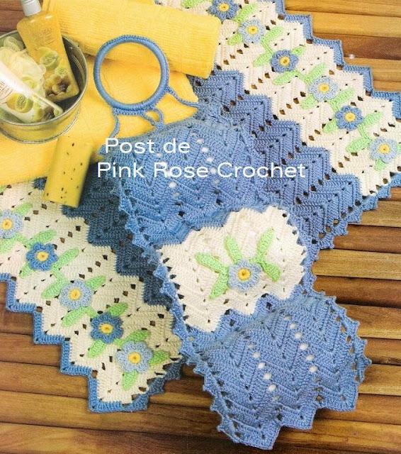 Juegos De Baño Crochet Paso A Paso:Juegos De Bano En Crochet