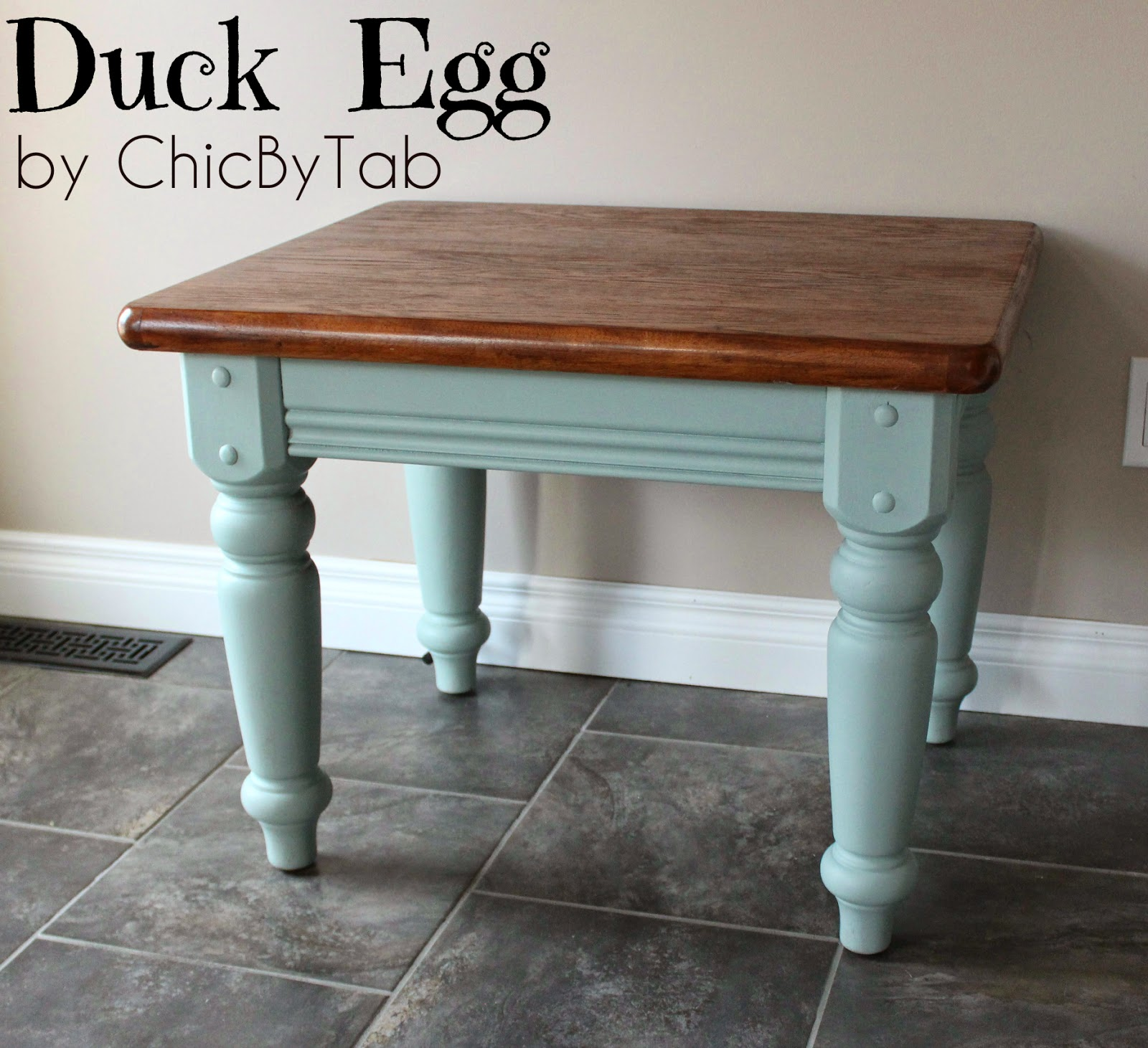 Chalk paint coffee table chalk paint side table a 10 cragislist find gets a made into a geotapseo Images