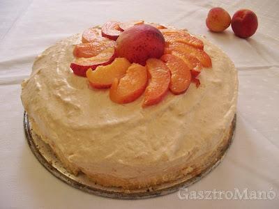 sárgabarack torta