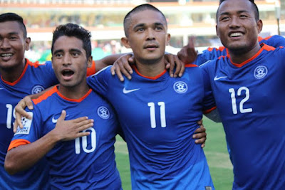 Team India beat Maldives in SAFF Championship 2015 Semis