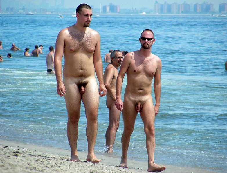 at nude beach men