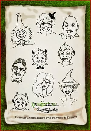 SPOOKICATURES-TM Themed caricatures for Hallowe'en & other events