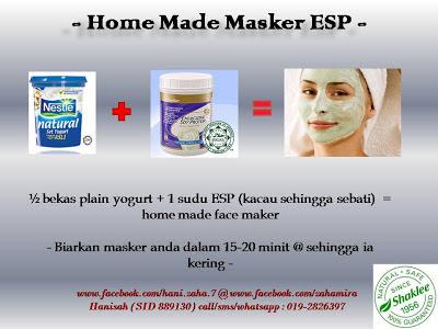 Masker dengan ESP Shaklee