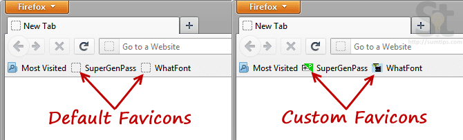 Add Favicon to JavaScript Bookmarklet in Firefox