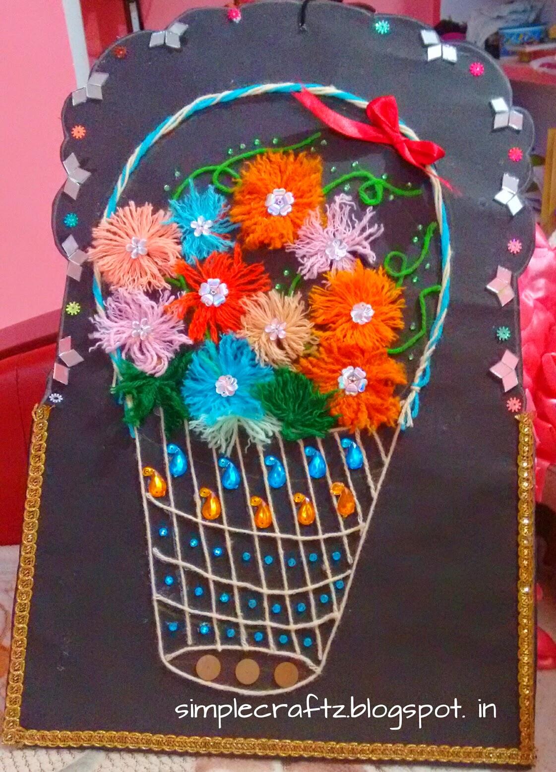 Simplecraftz kids craft woollen thread for Craft with woolen thread
