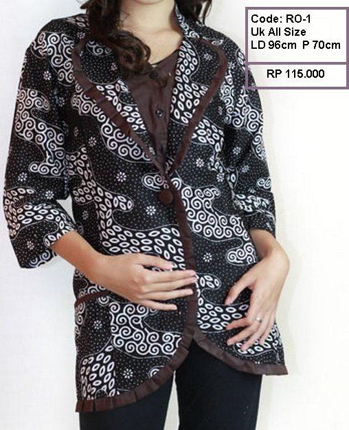 blezer batik, cardigan batik