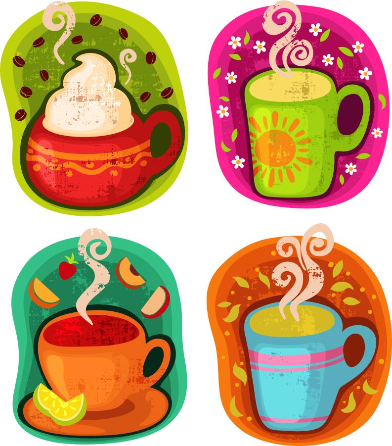 ホットドリンクのクリップアート Cup of Hot Drink Vector Illustration イラスト素材