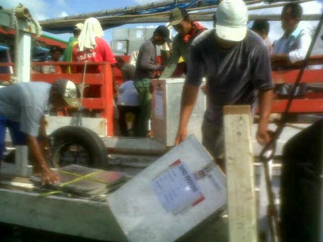 KPUD Sumenep Distribusikan Loagisitik Pileg ke Kepulauan