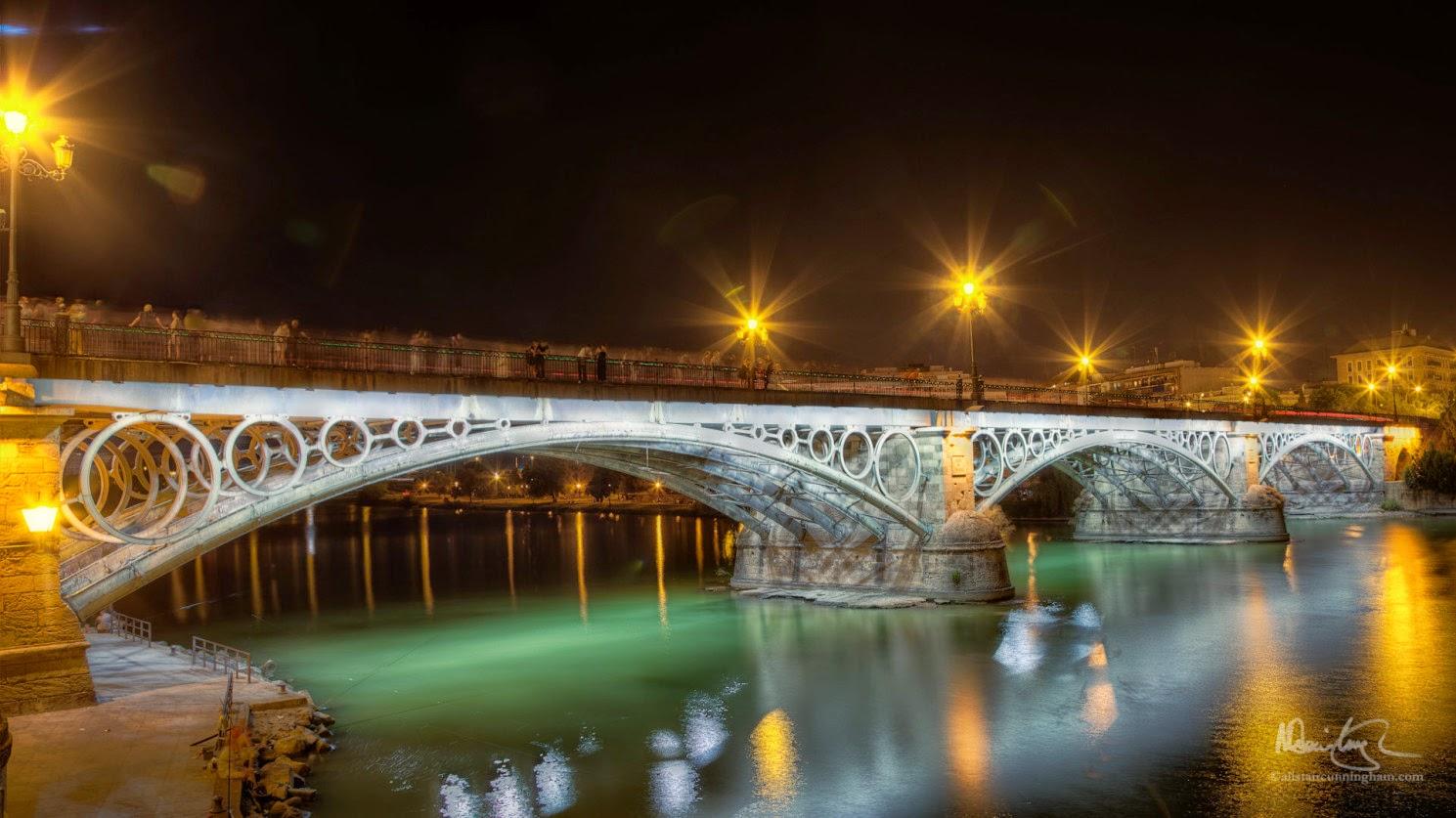 Alistair Cunningham, fotografía HDR, Puente de Isabel II, Puente de Triana, Sevilla
