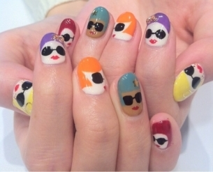 Lush fab glam blogazine style me pretty whimsical and cartoon cookie monster nails prinsesfo Images