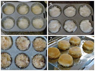Mini - Kunafa -  Kunafa Ramadan Gebäck Rezept Muffinform Pudding Creme