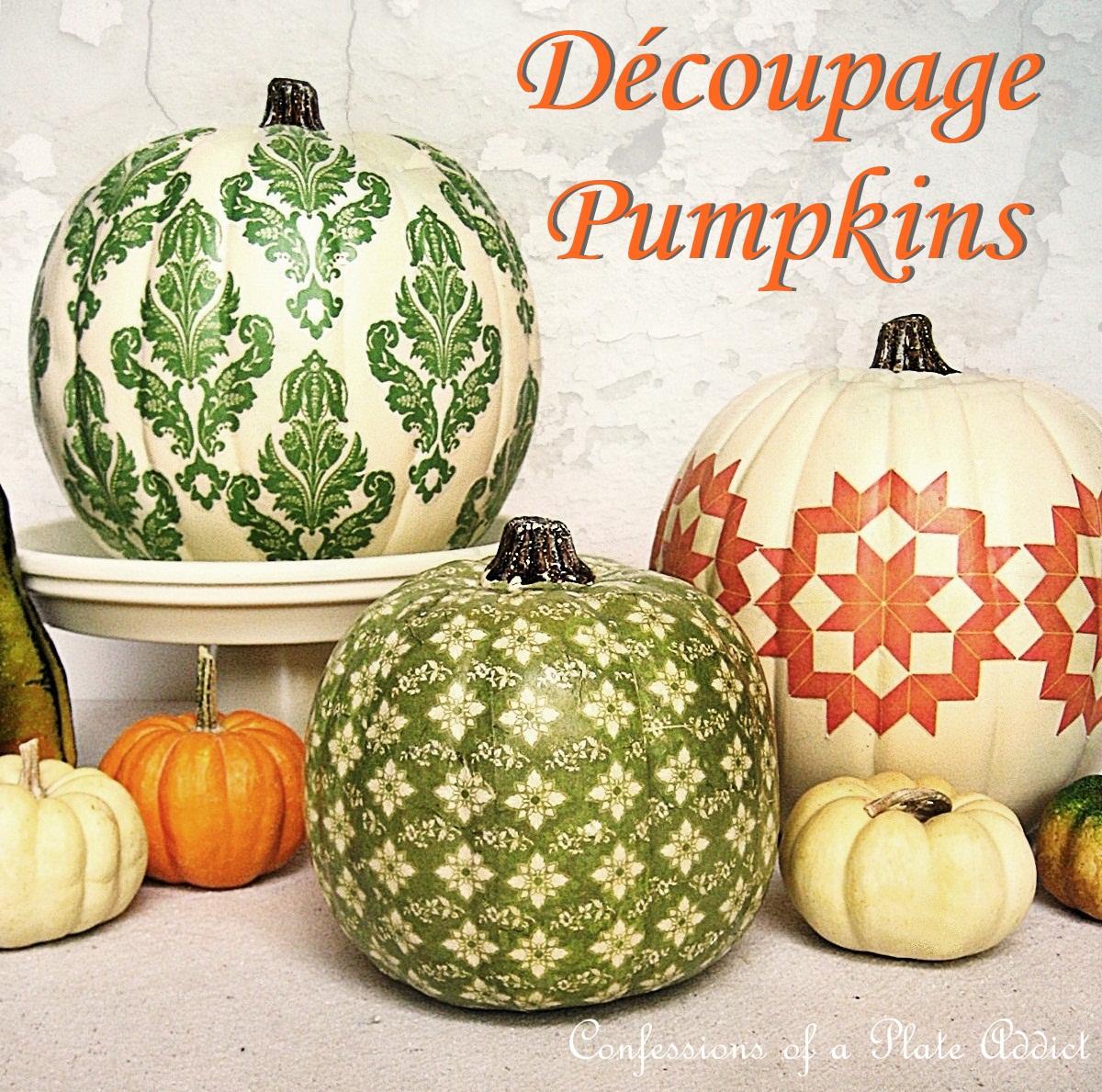 DECK THE HOLIDAY'S: DIY DECOUPAGE PUMPKINS!!!!