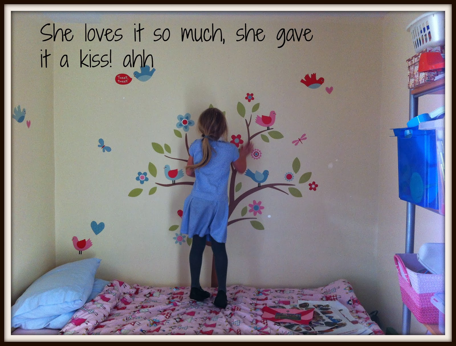 Nice I think the wall stickers from Tiny Me are beautiful I would happily remend them You can totally customise them to the colours you want and there are a