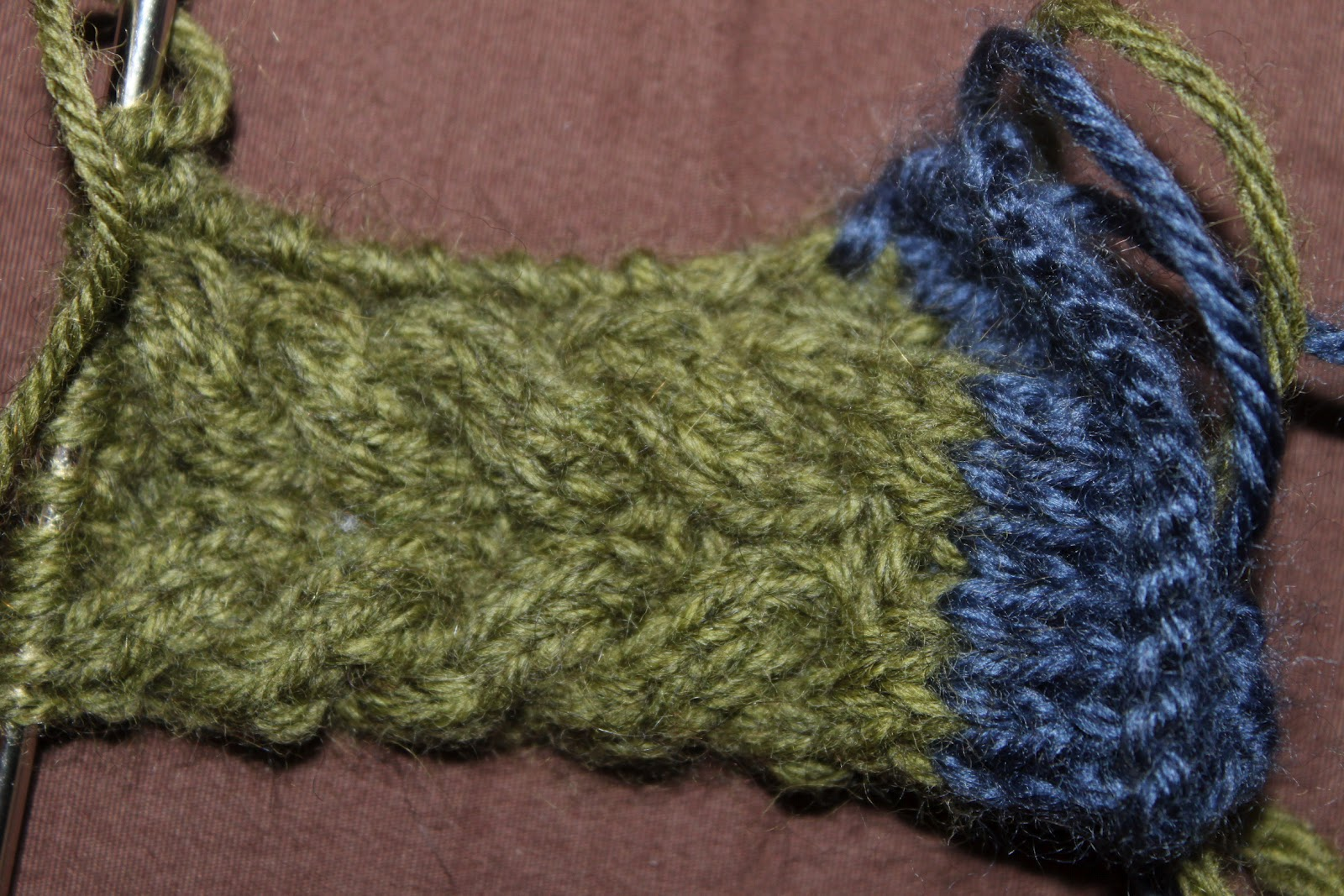 Knitting Gauge Too Many Stitches Per Inch : Easy Living the Hard Way: Cable Hat Knit Along