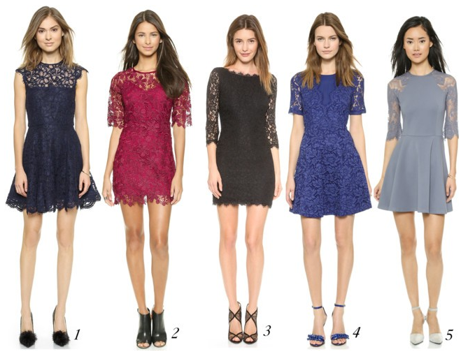 Five Best Lace Holiday Dresses