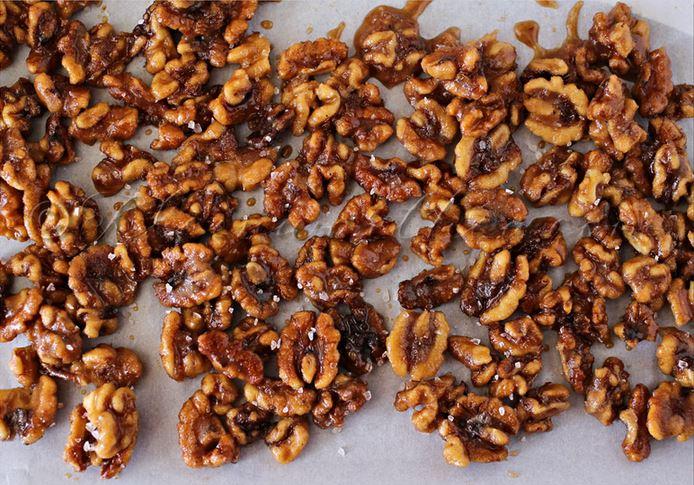 Pumpkin Spiced Candied Walnuts