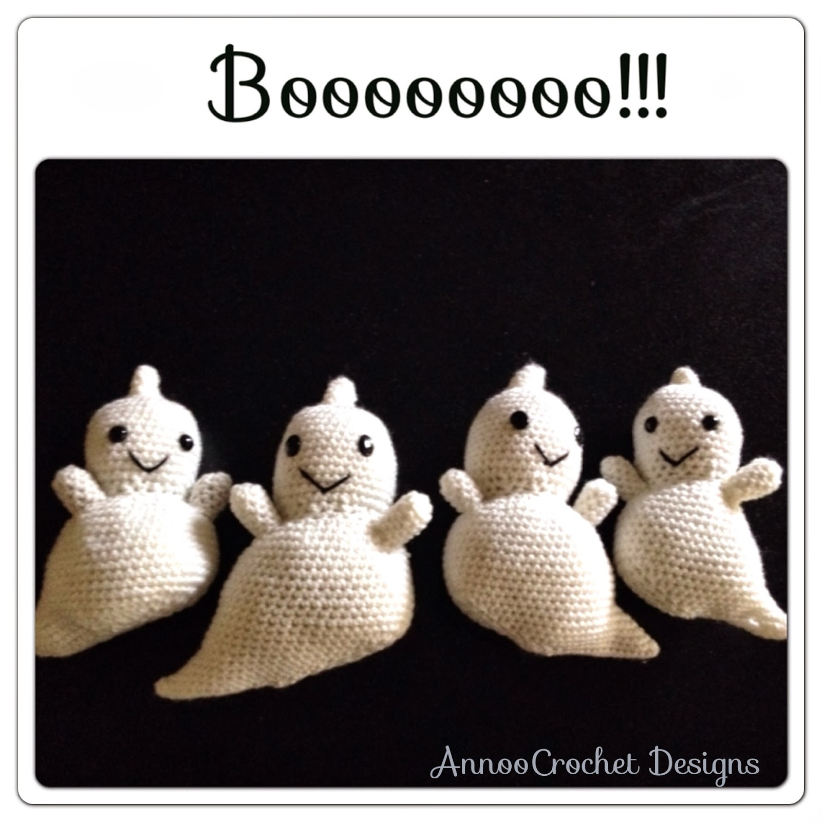 Annoos Crochet World Friendly Ghost Family Free Pattern