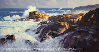 Seascape oil painting by Andy Dolphin