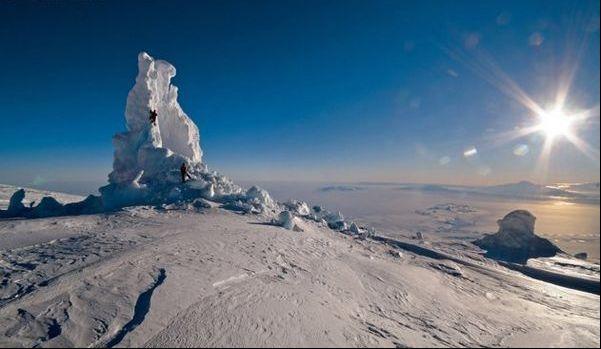 Imponentes volcanes árticos