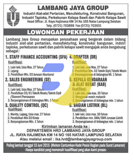 KARIR LAMPUNG, Lambang  Jaya Group