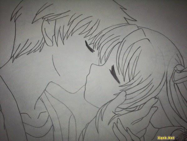 Một số bức tranh tình yêu vẽ những nụ hôn đẹp