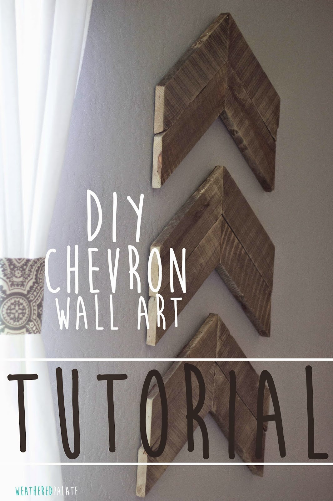 DIY Chevron Wall Art | Cool Home Decor Wall Art Ideas for You to Craft | wall art | unique wall art