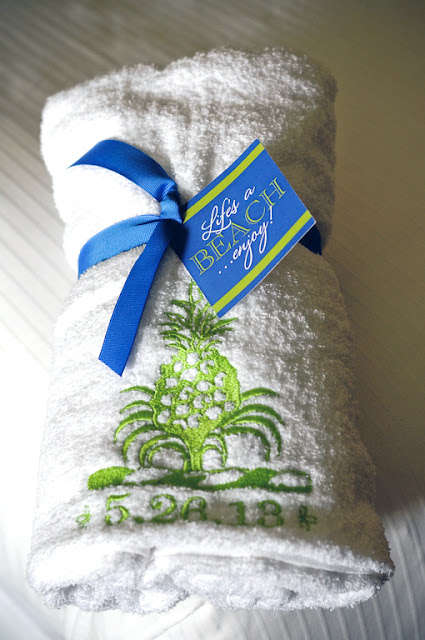 Pineapple Wedding Beach Towel