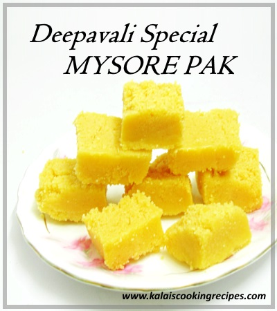 Mysore Pak Ghee Recipe
