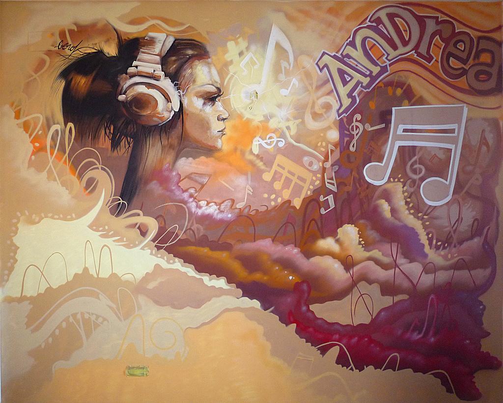 Berok graffiti mural profesional en barcelona decoraci n for Mural para habitacion