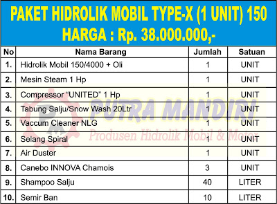 PAKET HIDROLIK MOBIL TYPE-X (1 UNIT) 150