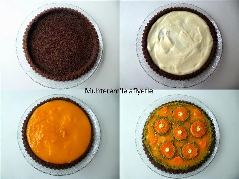 tangerine tart cake