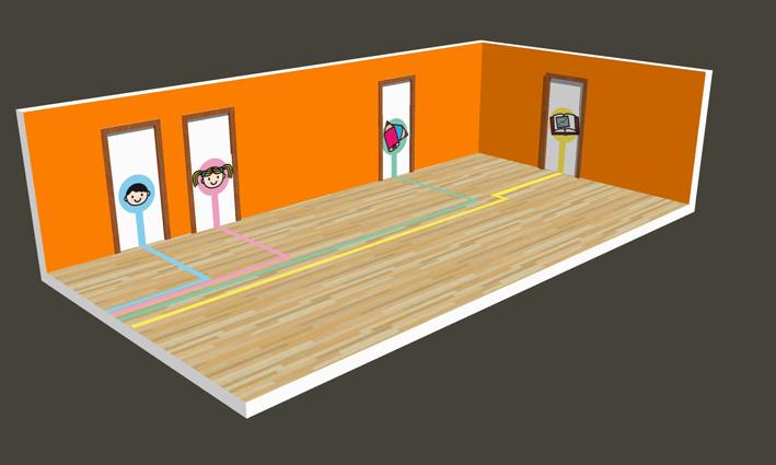 Baño De Una Guarderia:para los cuartos de baño, aula de plástica y la dirección de una