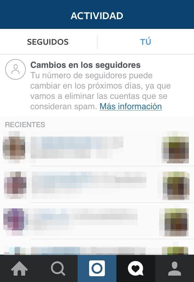 seguidores Instagram cambios mensaje
