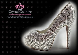Wholesale Silver Crystal Peeptoe Platforms