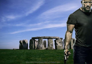 Desktop Wallpapers of Dwayne Johnson Faster Movie in Stonehenge Rock Monument wallpaper