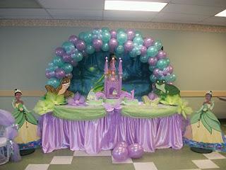 Fiestas Infantiles, Decoracion La Princesa y el Sapo, Salones