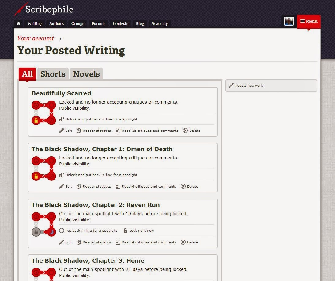 Writing While Having Other Writers Offer Helpful Critiques On Your Own  Work I'm A Fan See For Yourself Check Out The Site Or At Least Take A  Look At