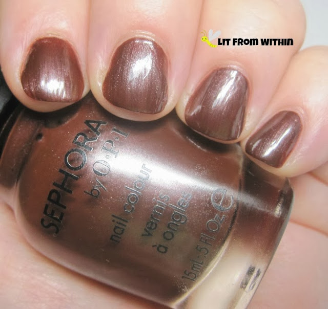 Sephora by OPI Studs and Stilettos - a nice warm, rich brown with a hint of brick red