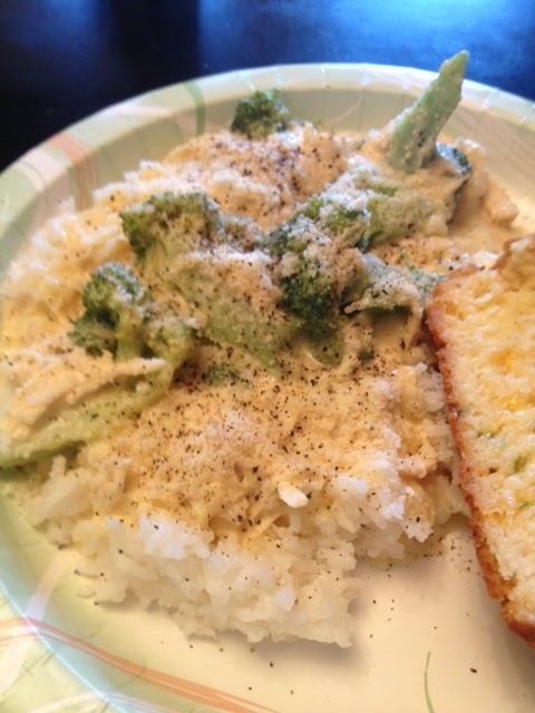 ... Womans Thighs: Creamy Crockpot Chicken and Broccoli Over Rice