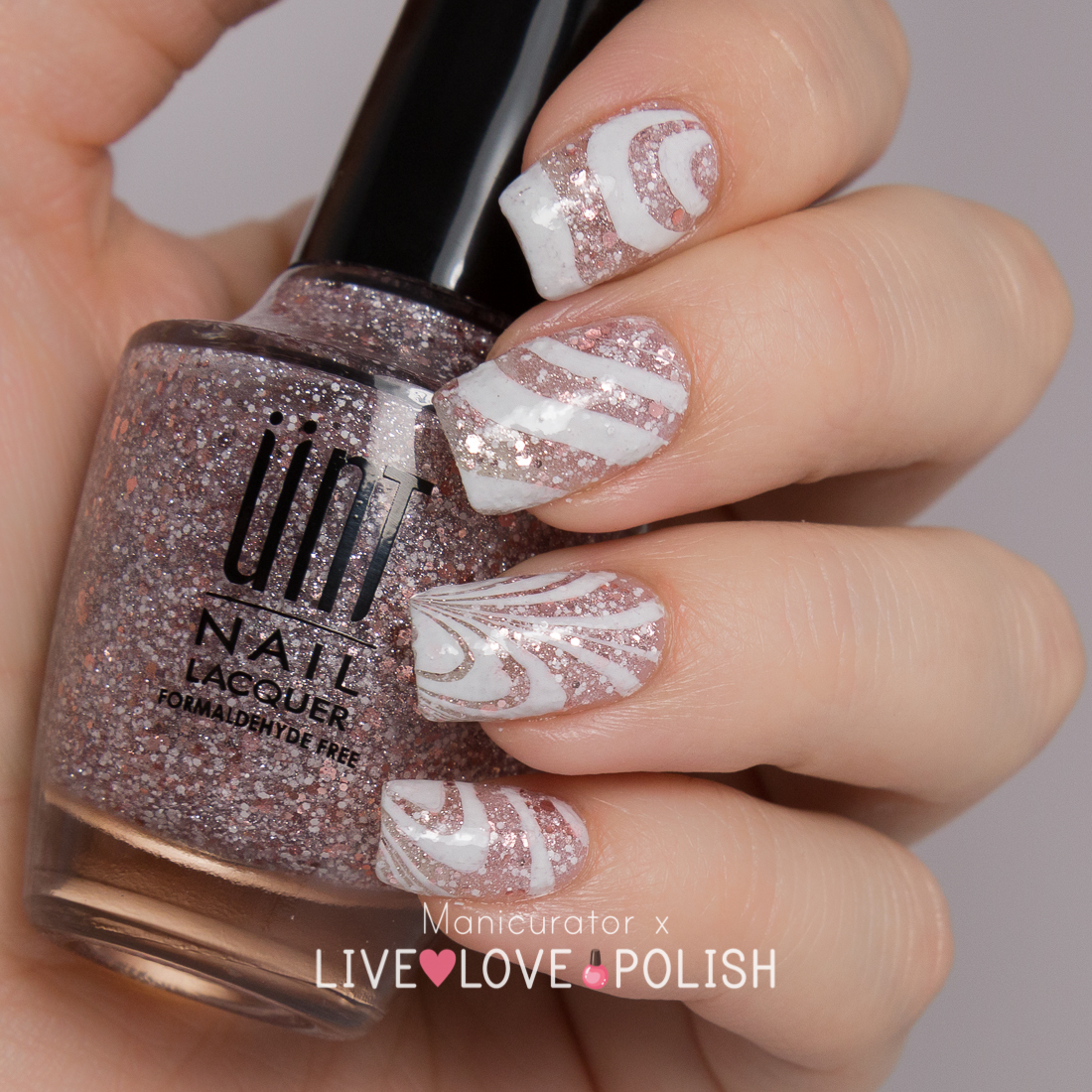 Manicurator Live Love Polish Unt Sand Castle Swatch Watermarble