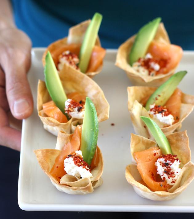 salmon-sashimi-wonton-cups