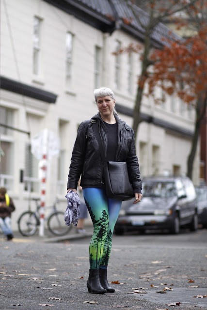 Silver Miller Aurora Skye Black Milk Leggings Seattle Street Style Fashion