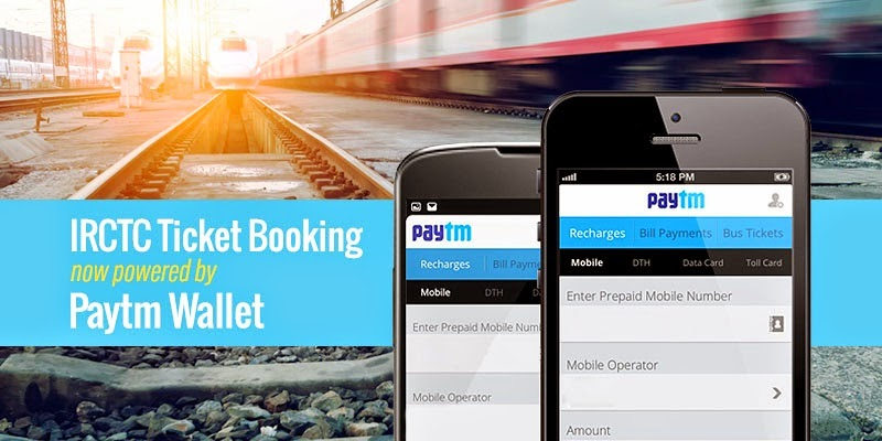 IRCTC payments now possible through Paytm