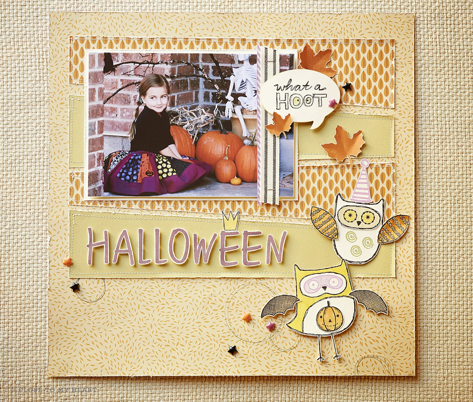 Give A Hoot Scrapbook layout