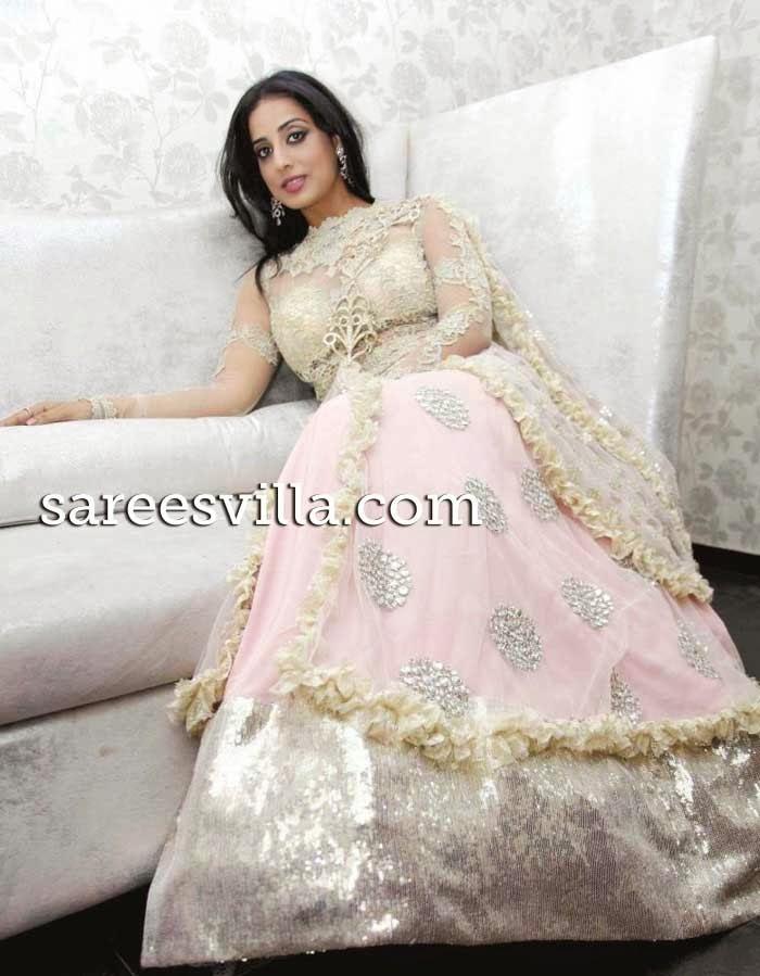 Actress Mahi Gill in designer Lehenga