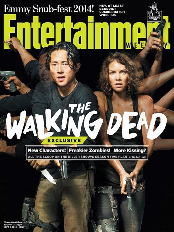Portada de EW dedicada a Glenn y Maggie de la 5ª temporada de The Walking Dead