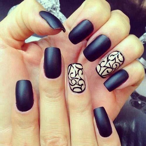 Black Nail Design.