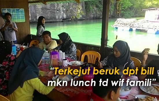 Terkejut Beruk Resit Makan Tengah Hari RM1,131