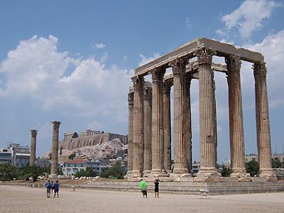 La Acrópolis de Atenas desde el Templo de Zeus - Agosto 2008